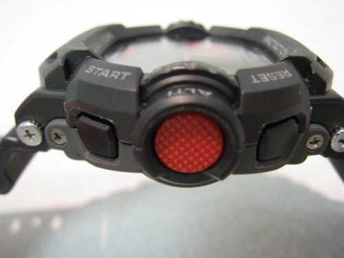 """Note how the glass face is recessed around the G-Shock's trademark """"armor""""."""
