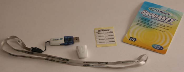 Secure Key, labels and lanyard