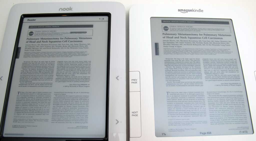Nook PDF Review - Nook Touch Stock and PDF Android Apps