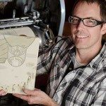 The Airship graphic novel was printed on a 90yr old printing press and hand bound by author Todd Thyberg