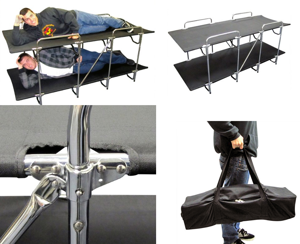 These Camping Cots Let You Rack Em And Stack Em The Gadgeteer