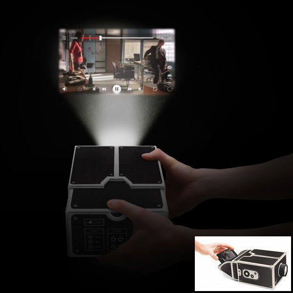 Who needs an expensive digital projector when you can use a cardboard smartphone projector – The Gadgeteer