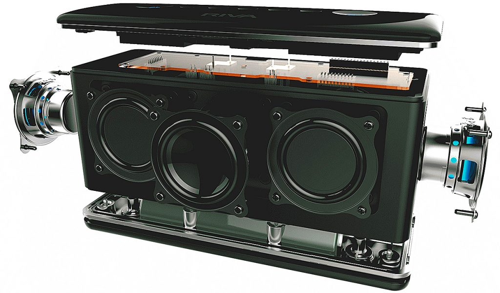Adx 60 Mm Full Range Drivers And Four Custom Dual Piston B Radiators That Reproduce More Of The Musical Spectrum Than Other Bluetooth Speakers