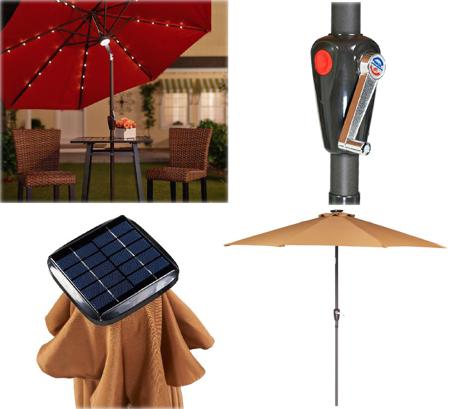 Light Up The Night With This Solar Patio Umbrella The Gadgeteer