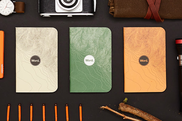 word notebooks go for a hike the gadgeteer