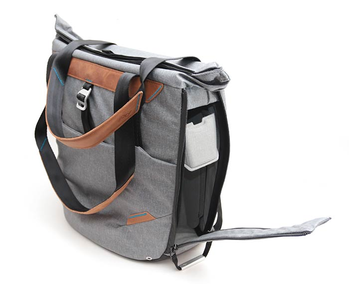 The Peak Design Everyday Tote Isn T Like A Traditional Bag It Has Zippered Side Pockets That Let You Access Your Gear Without Taking Off