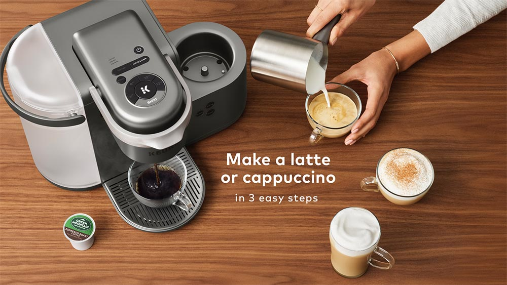 Keurigs New K Café Is A Single Serve Coffee Latte And Cappuccino