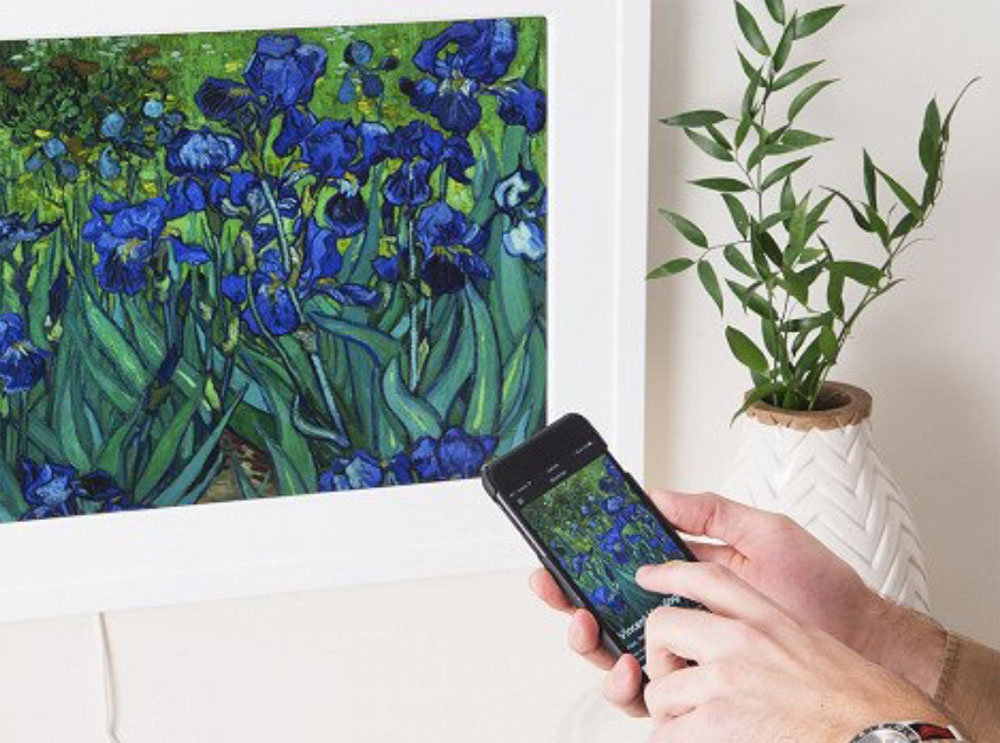 Change the art on your wall with a wave of your hand with this digital art frame from Meural