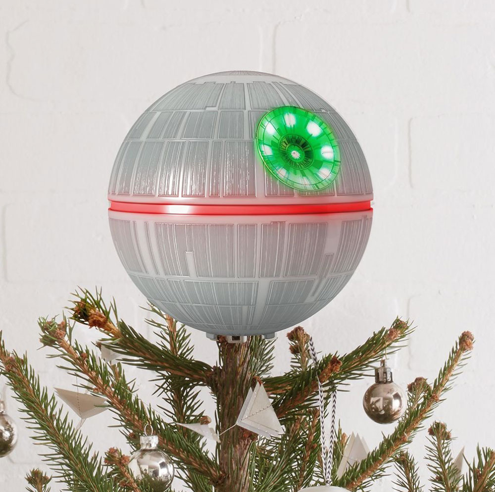 Thats Not A Moon Christmas Tree Topper Gadget Tech Lights On T Question News Im Sure How The Death Star Equates To Joyous Season But Who Am I It If Wars Makes All Your Occasions Happier