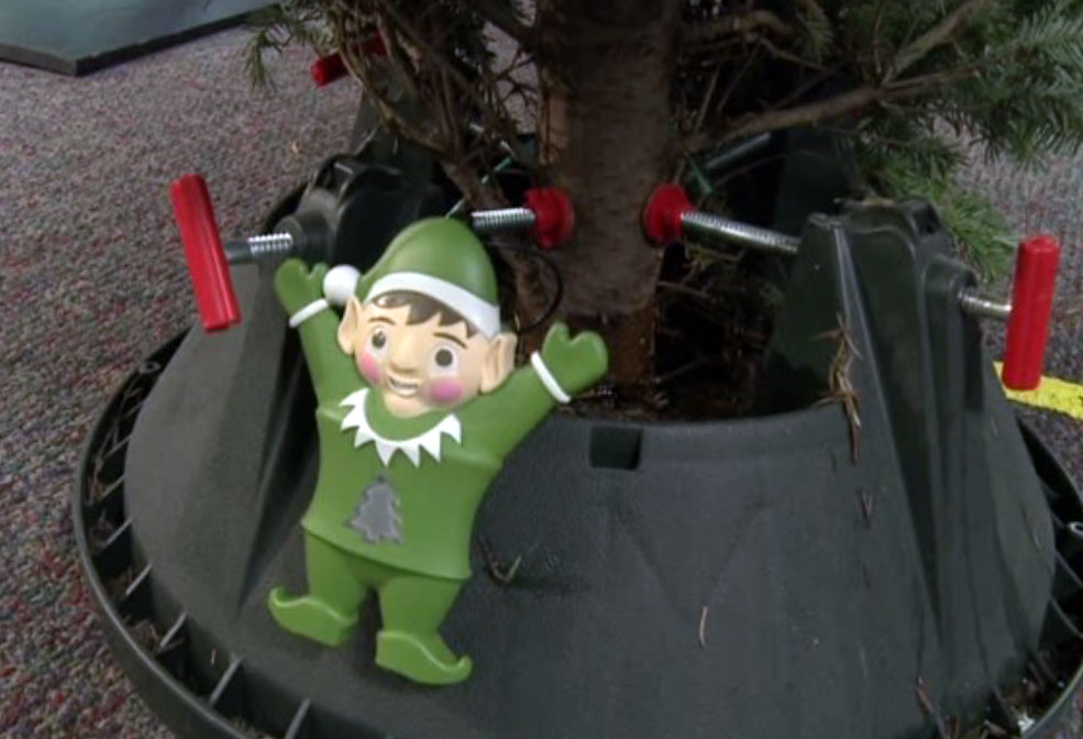 The Evergreen Elf monitors your Christmas tree to keep your family safe