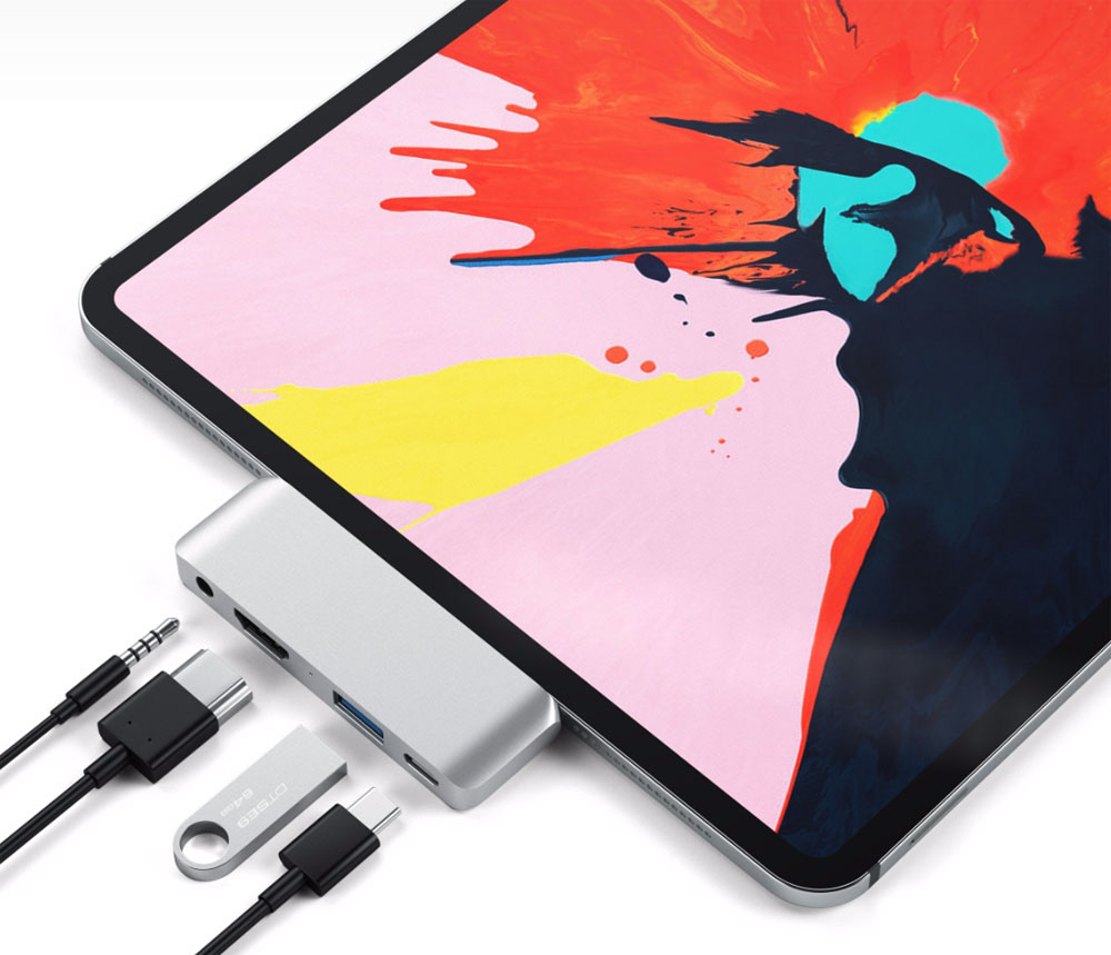 Add a USB-C hub to your 2018 iPad Pro and other Type-C tablets and phones