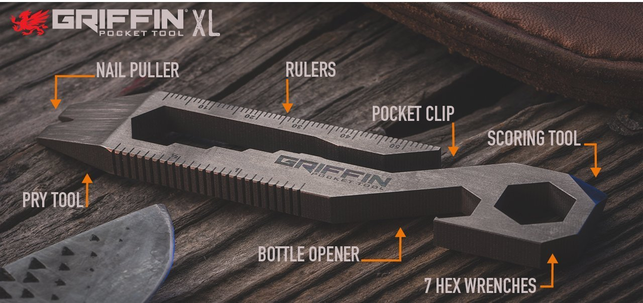 Griffin Pocket Tool puts up to 16 tools on your keychain