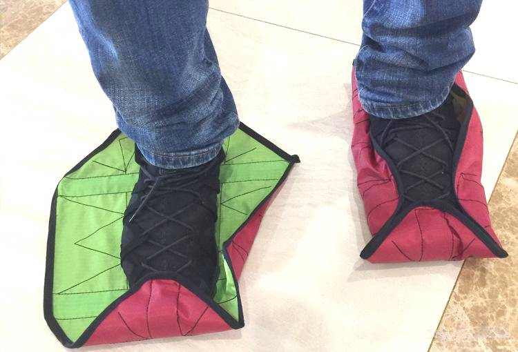 These shoes use witchcraft to wrap around your feet when you step on them