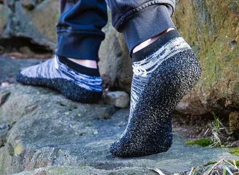 Skinners combine the freedom of socks with the protection of shoes