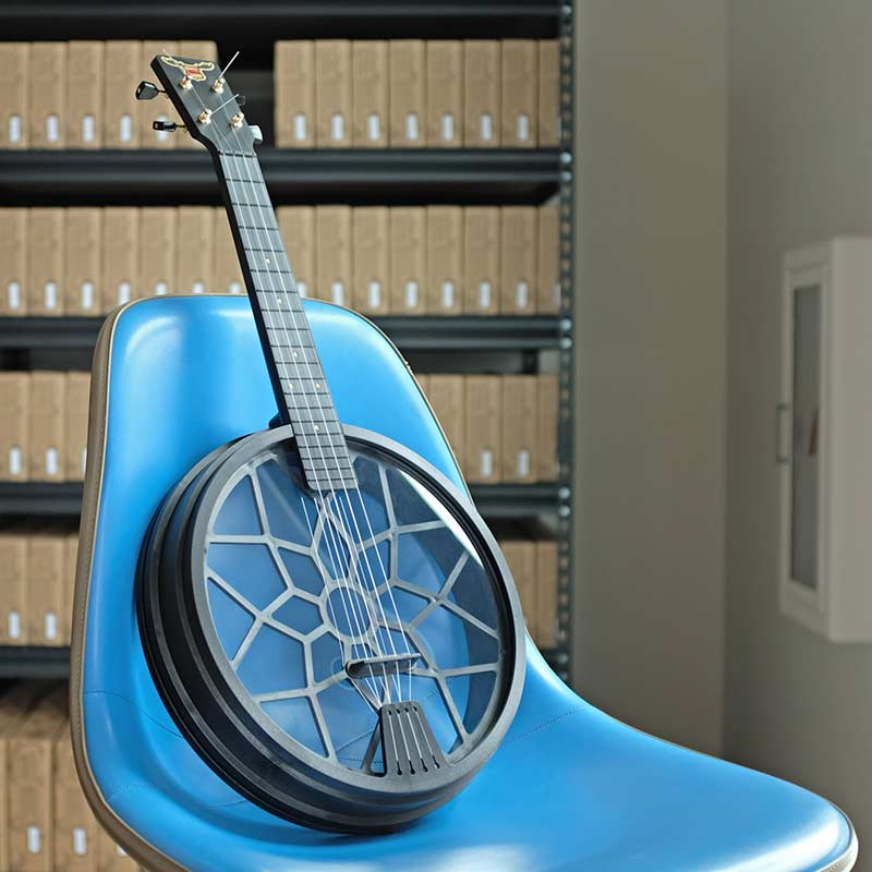 Carbon fiber makes everything cool, including musical instruments